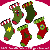 Christmas Stockings Clip Art by Jeanette Baker