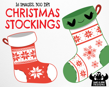 Christmas Stockings Clipart | Instant Download Vector Art | Commercial Use