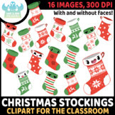 Christmas Stockings Clipart, Instant Download Vector Art, Commercial Use Clip Ar