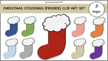 Christmas Stockings {FREEBIE} Clip Art Set