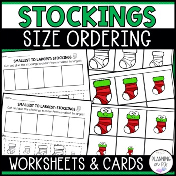 Christmas Stockings Size Ordering (From Smallest to Largest)