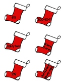Christmas Stockings Number Names Matching Game