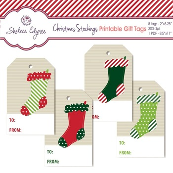 Christmas Stockings Printable Gift Tags