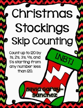 Christmas Stockings Skip Counting Task Cards