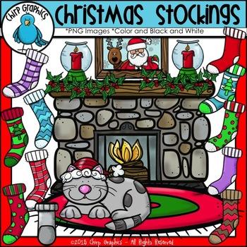 Christmas Stockings Clip Art Set - Chirp Graphics