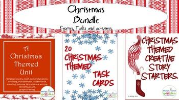 Christmas Stories, Writing and Activities Bundle.- $4.50 savings