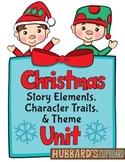 Winter Holiday - Christmas Activities & Writing - Plot -Theme -Character Traits