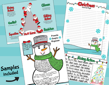 4th-5th Christmas Story Elements - Christmas Writing - Christmas Activities