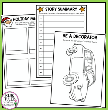 Christmas Story Activity Book - Perfect for Literacy Stations or Reading Groups