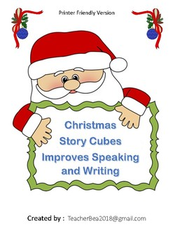 Christmas Story Cubes (Printer Friendly)