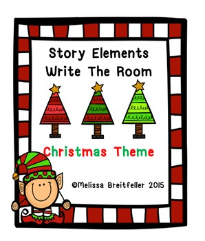 Christmas Story Elements Write the Room