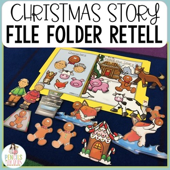 Christmas Story File Folders - Identify Character, Settings, & Major Events