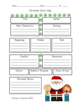 Christmas Story Maps/ Holiday Story Maps/ Story Elements Review