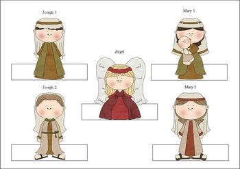 Christmas Story Nativity Finger Puppets Style 1
