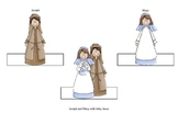 Christmas Story Nativity Finger Puppets Style 2