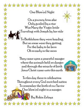 Christmas Nativity Poem