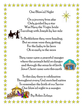 Christmas Nativity Poem