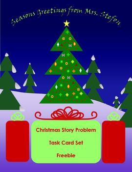 Christmas Story Problem Task Card Set