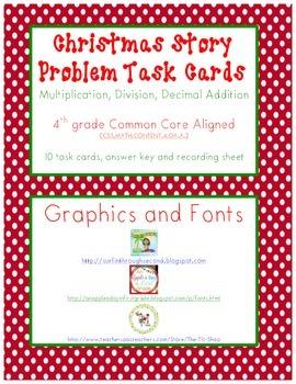 Christmas Story Problem Task Cards