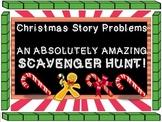 Christmas Story Problems Scavenger Hunt, Addition, Base 10, Expanded Form