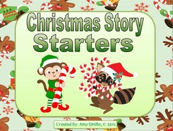 Christmas Story Starters - 28 Story Task Cards