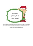 Christmas Story Starters (Primary Lines)