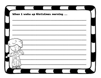 Christmas Story Starters in English and Spanish