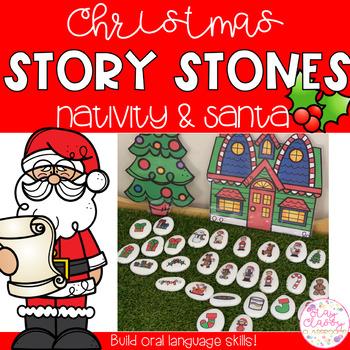 Christmas Story Stones - Nativity & Santa's Workshop