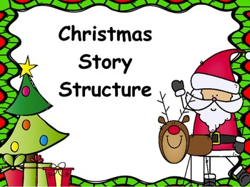 Picture A Christmas Flipchart.Christmas Story Structure Flipchart And Worksheet