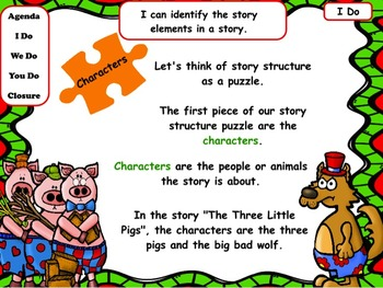 Christmas Story Structure: Flipchart and Worksheet