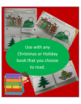 Christmas Story Structure Interactive Notebook with Any Story