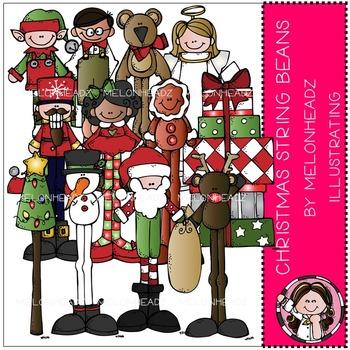 Melonheadz: Christmas String Beans clip art