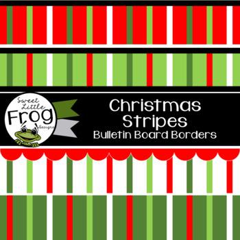 Christmas Stripes Bulletin Board Borders