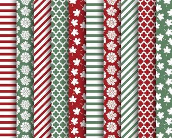 Christmas Stripes Paper Set #101