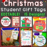 Christmas Student Gift Tags 12 Different EDITABLE Holiday Designs