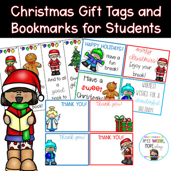 image relating to Christmas Thank You Notes Printable referred to as Xmas Pupil Reward Tags, Thank By yourself Notes and Bookmarks - Print and Transfer