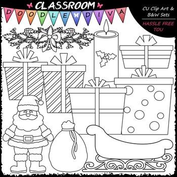 Christmas Stuff - Clip Art & B&W Set