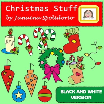 Christmas Stuff - Clipart - BW version
