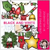 Christmas Stuff clip art - BLACK AND WHITE- by Melonheadz