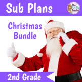 Christmas Sub Plans 2nd Grade 3 Full Days