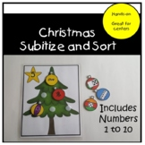 Christmas Subitize and Sort - Numbers 1 to 10