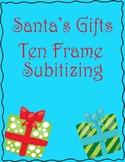 Christmas Subitizing Center Activity- Low Prep