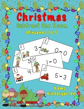 Christmas Subtract the Room (Minuends to 5)