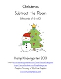 Christmas Subtract the Room (Minuends of 6 to 10)