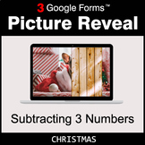 Christmas: Subtracting 3 Numbers - Google Forms Math Game
