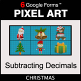 Christmas: Subtracting Decimals - Pixel Art Math   Google Forms