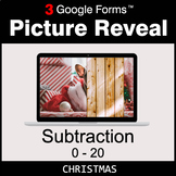 Christmas: Subtraction 0-20 - Google Forms Math Game | Dis