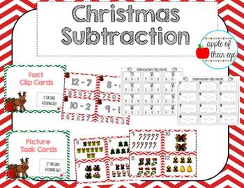 Christmas Subtraction 1-12