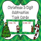 3rd Grade Christmas Math Subtraction within 1000 3.NBT.2 Christmas Task Cards