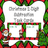 2 Digit Subtraction Christmas Task Cards 2nd Grade Christmas Math Center